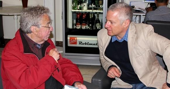 Bergfilmer Lothar Brandler zu Besuch bei Uli Auffermann
