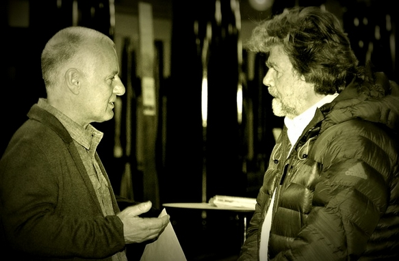 Uli Auffermann und Reinhold Messner